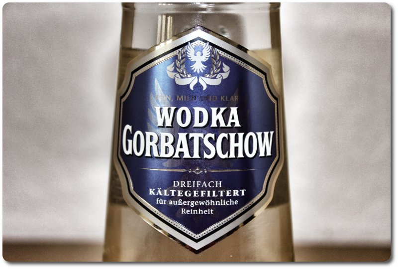 Wodka Gorbatschow Label
