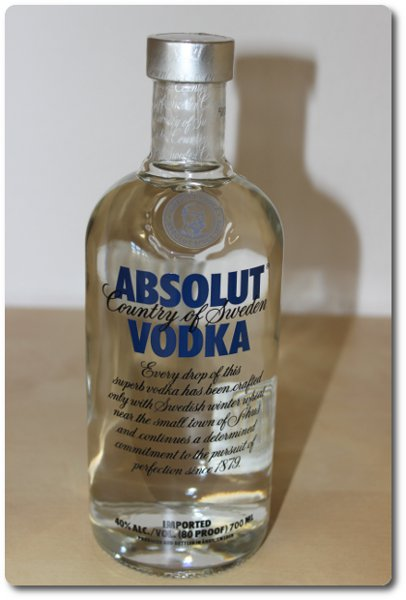 Absolut Vodka Flasche